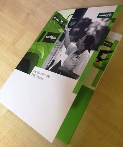 Offset printed full colour presentation folder - G Force Printing Perth