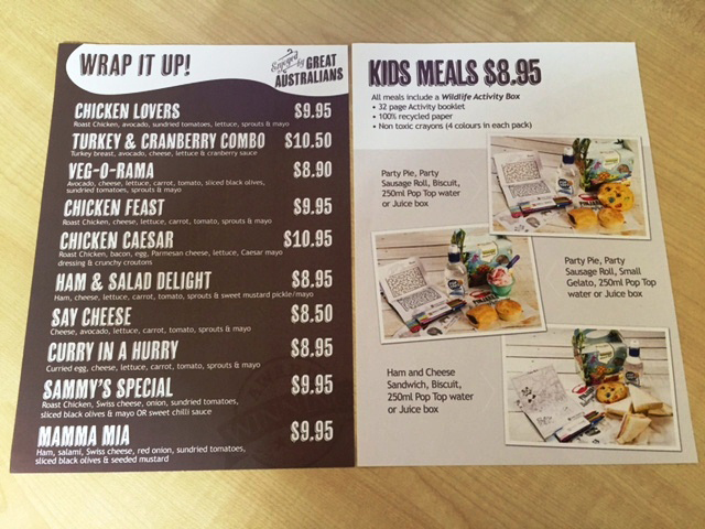 Sandwich and Kids Menus by G Force Printing