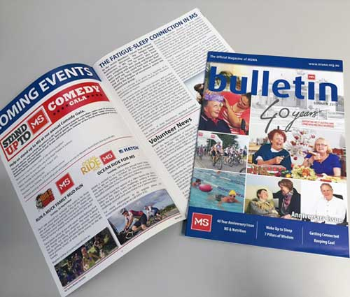 MS Printed Newsletters by G Force Printing Perth