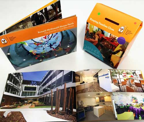 RMH Printed Booklets and Collection Boxes – G Force Printing Perth